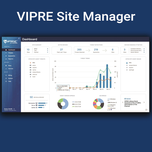 site manager dashboard